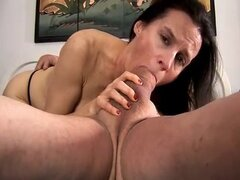 Sexy mature foot fuck and blowjob