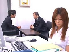 Gorgeous Asian Secretary Facialized after Sucking and Fucking
