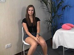 Russian Girl Fucked at Sex Massage Session