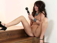 That's one huge vibrator but it delivers huge pleasure too, so it's in