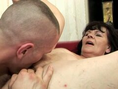 Granny with big panties with young boyfriend