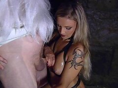 Deep Throat Action With The Sexy Blondes Liliane Tiger And Vyona