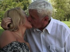 Older Guy Having the Time of His Life Fucking Blonde Teen Chary Kiss