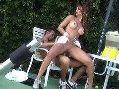 Horny Latina MILF Monique Fuentes Fucked In Outdoors Threesome
