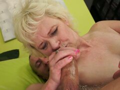 Granny Clad in Sexiness Gets Filled with Man Meat in Her Pussy