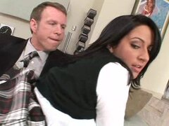 Jordan Star is a sweet and innocent schoolgirl who pulls up her plaid skirt to get fucked.