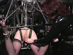 Blonde Submissive Cross Dresser Gets His Balls Tortured By Lady Amanda