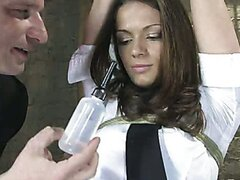 Anal Audition:  TEN does her first enema just for you!