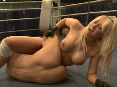 Sexy Lesbian Scene With Kinky Babes In The Ring