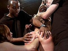 A Fistful Of Fun In An Interracial Bondage Threesome