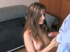 Teen baby-maker takes first creampie in casting!