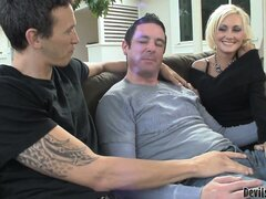 These two dudes are bi-curious and try it out with husband and wife