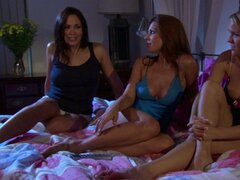 Three sexy girls Kirsten Price, Zoe Britton and Krissy Lynn go dirty at the pajama party