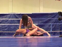 Hot Lesbo Scene On A Fighting Ring