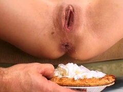 Deepthroat and rough anal sex ends in cream pie