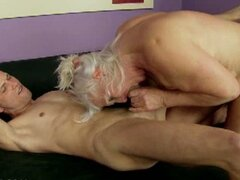 Horny blonde granny judi fucked hard after shower