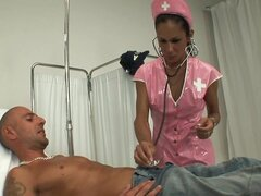 Nurse Hottie Turns Out To Be A Tranny