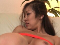 Pussy vibed tied up japanese babe gets all wet