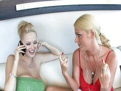 Katie Kox and Sophie Dee interracial threesome
