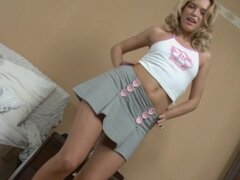 Sexy teen Cindy P is showing her big ass indoors