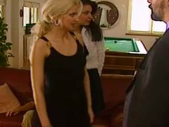 Awesome Action in the Living Room with a Blonde and a Brunette Beauties