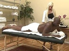The Replacement Masseuse Wants To Be Banged By That Big Black Cock