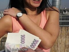 Public Pickups - Horny Czech is paid to show off her body