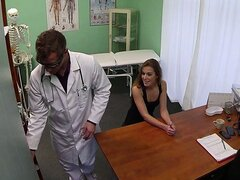 Fake doctor examines and fucks hot blonde patient and creampied