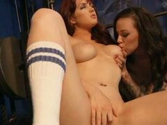 Sexy baby Veronica Emily enjoys getting her girlfriend to lick her tits