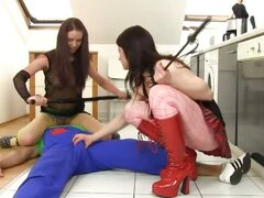 2 Girls Humiliating a Plumber