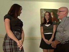 Two Hot Students Having Anal Fun with a Teacher in Classroom