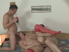 Nasty mature lady's threesome
