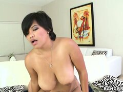 Big-tittied Thai woman pleases that horny and overly hungry dick