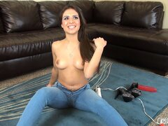 Over eating Jynx Maze needs new jeans to contain her round butt