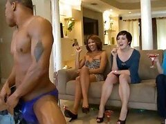 Woman fucks a stripper