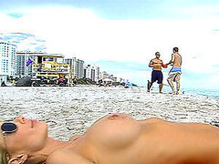A smoking hot blonde gets picked up on the beach and has her vag licked