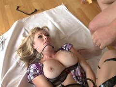 Adrianna Nicole gets a load of hot cum in her mouth