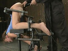 Charming Teen Brunette Is Very Flexible When It Comes To BDSM Scenes