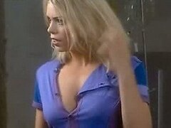 Blonde British Bombshell Billie Piper Showing Her Hot Cleavage