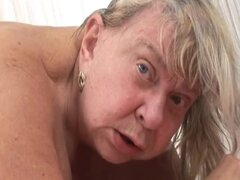 Slutty granny Sara G enjoys sucking and riding a BBC