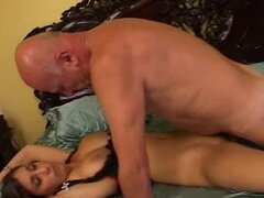 No Sound: Cutie loves 69 sex with grandpa