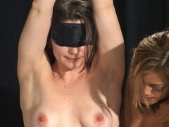 Blindfold slave bonde gets traded for a new one