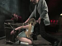 Dirty old men get serviced by 18 year old sluts in white panties!