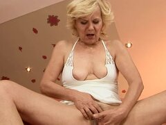 Nasty granny Lili gets her pussy fingered and amazingly fucked