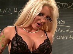 No Cock Left Behind with Horny Blonde Teacher Helly Mae Hellfire