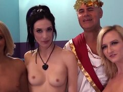 ImmoralLive ORGY with STRAPONS and HUGE TOYS