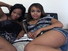 Two 18yr old Ebony Teen Threesome