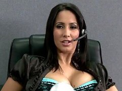 Busty Secretary Isis Love Fucks the Boss in the Office