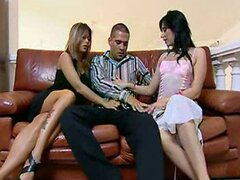hot threesome that ends in a facial
