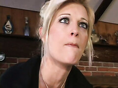 Blonde coed is fucked by a lustful mature couple